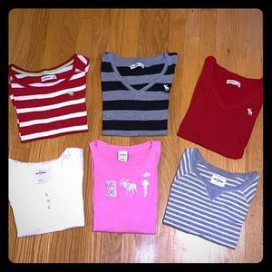 Abercrombie Kids Girls Loy of 6 Tops size L XL
